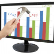 Business without loss in Frame computer screen. — Stock Photo #30700303