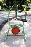 Exercise equipment in the park. — Stok fotoğraf
