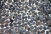 Textura del camino hecho de roca negra. — Foto de Stock