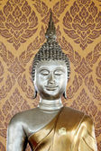 Buddha statue in the background of Pattern Thailand. — Stock Photo