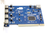 Blue USB Card Computer equipment circuit board. — Stock Photo