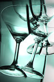 Green Background of wine glass this Front. — Stock Photo