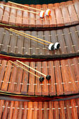 Xylophone Musical instrument of Thailand. — Стоковое фото