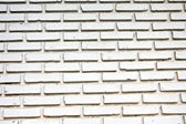 House wall made of white bricks. — Stock Photo