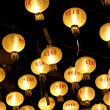 Yellow Chinese lanterns. — Foto Stock