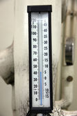 Thermometer in the control room. — Stock Photo