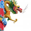 Thailand Golden dragon statue. — Stock Photo