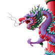 Thailand violet dragon statue. — Stock Photo
