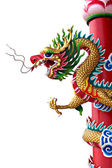 Chinese style of Golden dragon statue. — Stock Photo