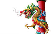 Chinese style of Golden dragon statue. — Stock fotografie