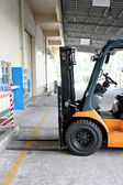 Forklift in the factory. — Stock Photo