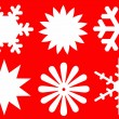 Snowflakes of white color. — Stock Photo