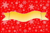 Yellow ribbons on snow background. — Stock Photo