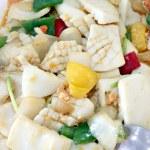 Sauteed vegetables mix squid. — Stock Photo #36955393