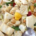 Sauteed vegetables mix squid. — Stock Photo #36955843