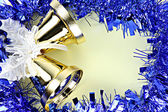 Decorations ribbon for Christmas and New Year. — Stock Photo