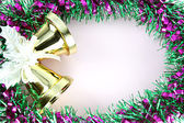 Decorations Green ribbon for Christmas and New Year. — Stock Photo