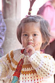 Asian baby child girl are Poses Lovely. — Stock Photo