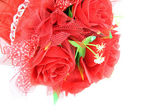 Bouquet of red rose isolated. — Stock Photo