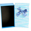 Stockfoto: Blue gift box with lid isolated.
