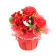 Stock Photo: Bouquet of red rose isolated.