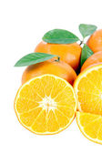 Mandarin oranges isolated. — Stock Photo