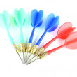 Mix color Darts isolated. — Stock Photo