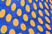 Niebieski woreczkach z pomarańczowy kropki. — Zdjęcie stockowe