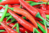 A pile of red chillies. — Foto de Stock