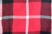 Kumaş kırmızı ve siyah damalı deseni. — Stok fotoğraf