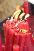 Red candle of burning. — Stock Photo