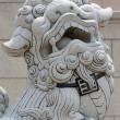 Stone lion sculpture. — Stock Photo