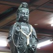Black deity statues of Chinese religion. — Stock Photo