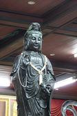 Black deity statues of Chinese religion. — Stock Photo
