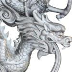 The head of dragon statue. — Stock Photo