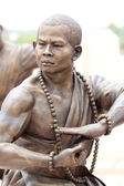 Chinesische buddhistische priester statue. — Stockfoto