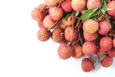 Fresh lychees of isolated on white. — Stock Photo