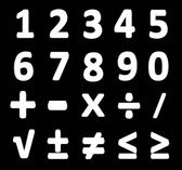 White collection numbers of isolated. — Stock Photo