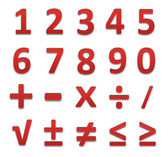 Red collection numbers of isolated. — Stock Photo
