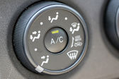 Button to adjust the level of air conditioning. — Stock Photo