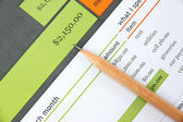 Pencil on education document. — Stock Photo
