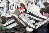 Sneakers of old shoes second hand. — Stock Photo