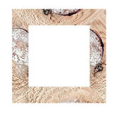 Wooden photo frames isolated. — Stock Photo