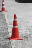 Cones de trânsito. — Foto Stock