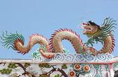 Sculpture de Dragon en temple chinois. — Photo