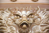 Gold dragon sculpture in the Chinese temple. — Stok fotoğraf