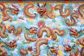 Dragon sculpture on wall in Chinese temple. — Stok fotoğraf