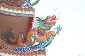 Dragon sculpture in Chinese temple. — ストック写真