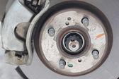 Repaired equipment of car brake disc. — Stock Photo