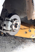 Repaired equipment of car brake disc. — Stock Photo